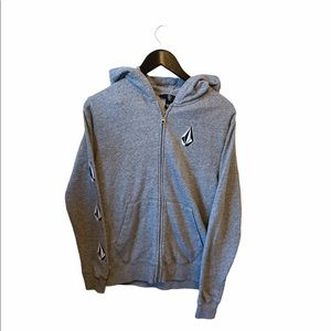 Volcom deadly stones zip up in grey
